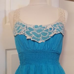 💙Robin's egg lace strap beachy dress